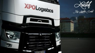 XPO Logistics for Renault T Range and Krone trailer 1