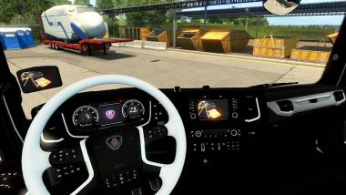 Black & White Interior для Scania Next Gen 2016 S&R 2