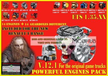 Pack Powerful engines + gearboxes