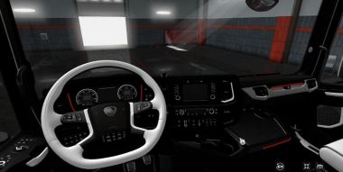 Black & White Interior для Scania Next Gen 2016 S&R 0