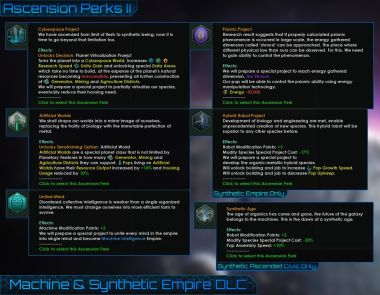 Unofficial Machine & Synthetic Empire DLC 1
